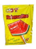 Rebanaditas Watermelon Lollipops Mexican